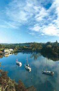 Kerikeri inlet with the Stone Store on the left
