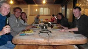 Sharing dinner