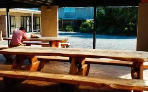 B&B Kerikeri courtyard dining area