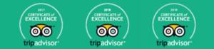 TripAdvisor 2017, 2018 & 2019 Certificate of Excellence awarded to Hone Heke Lodge Kerikeri backpackers