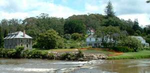 Kerikeri river mouth featuring the Stone Store and the Mission House, two of the great things to do in Kerikeri
