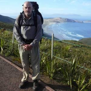 Te Araroa trail blog - Bob at Cape Reinga looking south